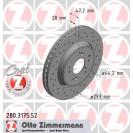 Тормозные диски Zimmermann Sport Coat Z 280.3175.52 для Honda CR-V