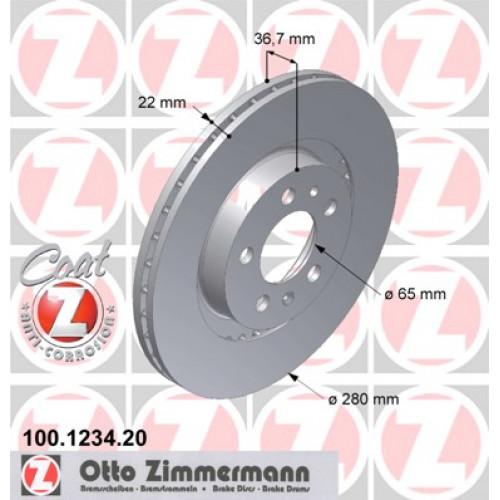 Диск тормозной передний Coat Z Audi / VW / Skoda / Seat