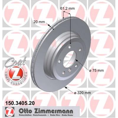 Диск тормозной задний вентилируемый Coat Z